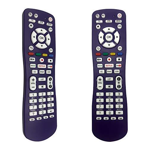 FOXRMT Fernbedienung Universal für Philips/Samsung/LG/Sony/Sharp/HAIER/RCA/Westinghouse/Insignia/VIZIO/MAGNAVOX/SANYO/VESTEL/SEIKI/Sky TV-Modelle - Universal Fernbedienung für Alle Fernseher(lila)