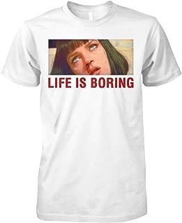 wal-lace Life is FIC-Tion Boring m-ia pu-lp Shirt