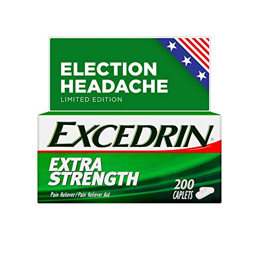 Excedrin Extra Strength Election Headache Relief Caplets – Limited Edition While Supplies Last – 200 Count (packaging may vary)