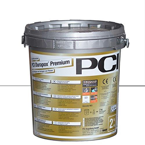 PCI Durapox Premium Reaktionsharz-Mörtel 2kg Eimer, Brillantweiß