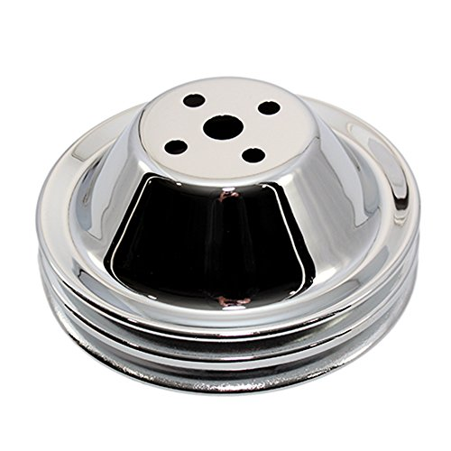 Assault Racing Products A9601 Small Block Chevy Chrome Short Water Pump Pulley 2 Groove SBC