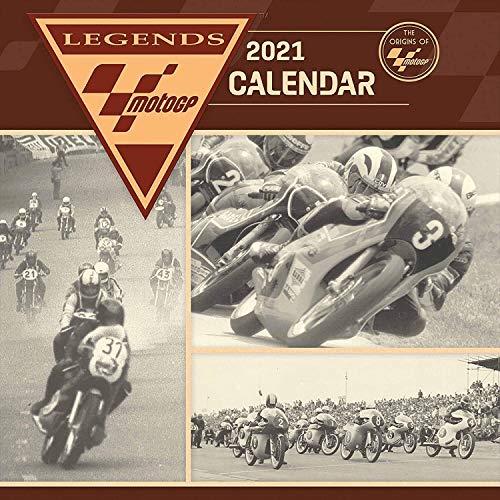 Moto GP 2021 Unisex Calendario de Pared Multicolor, Papel,