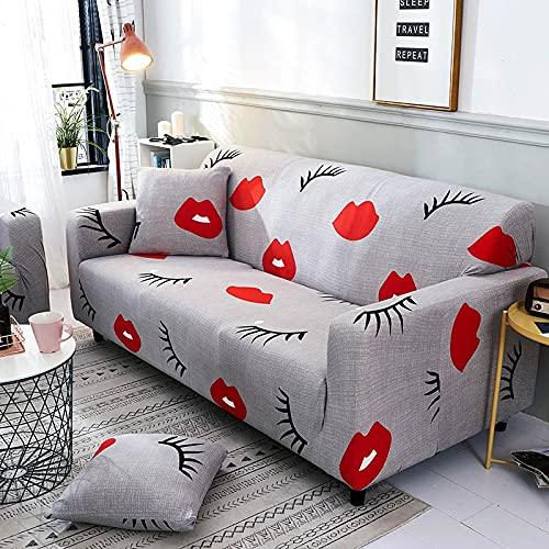 PPOS Juego de Fundas de sofá Funda de sofá elástica Fundas de sofá para Sala de Estar Mascotas Cubre sofá Funda de Almohada en Forma de L Funda de Almohada D15 4 Asientos 235-300cm-1pc