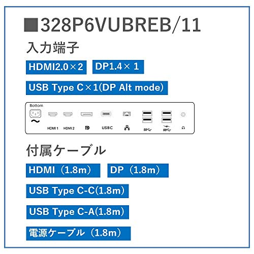 51kuhX4410L-4Kディスプレイの「I-O DATA EX-LD4K271DB」と「Philips 328P6VUBREB/11」が気になるので比較してみる