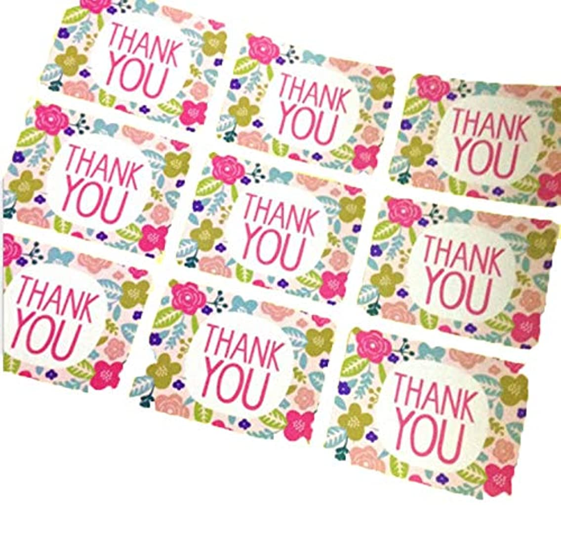 SCHOLMART Thank You Self Adhesive Sealing Cello Cellophane Gift Bags for Bakery, Cookies, Candies, Dessert, Christmas, Buddies Holiday (100 Pack) (Thank You, Stickers 108 Count)