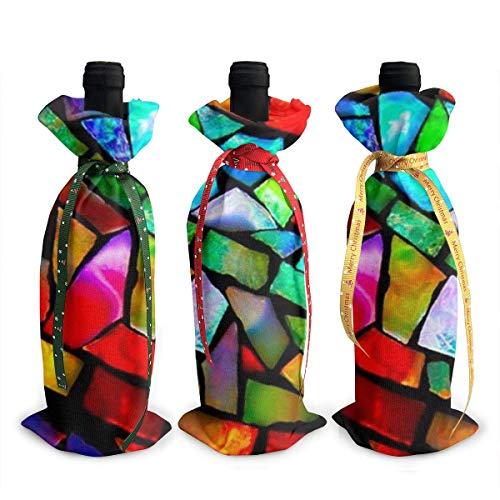 Pinterest - Juego de 3 bolsas para botellas de vino con cordones para cena, cata de vino, decoración de mesa