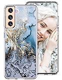 Handyhülle für Samsung Galaxy S21 Hülle Hülle Silikon Original Marmor Glitzer Transparent Galaxy S21 5G Hülle Cover 360 Grad Dünn Slim Schutzhülle für Samsung S21 Tasche (Marmor B)