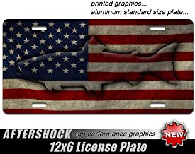 Autotags Salmon Trout American Flag License Plate Fishing