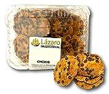 Lázaro Cookies Pepitas de Chocolate, 300g, Pack de 4 unidades. Galleta Artesanal con pepitas de chocolate.