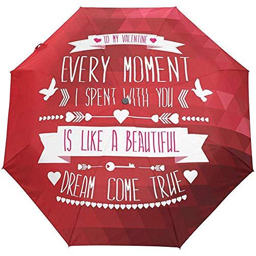 Hallo Willkommen Happy Valentines Day Liebe Dich Auto Öffnen Schließen Sonne Regen Regenschirm