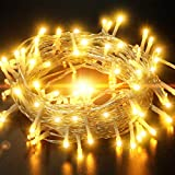 33FT 100 LED Battery Operated String Lights, IP65 Waterproof Outdoor Fairy Lights with 8 Lighting...