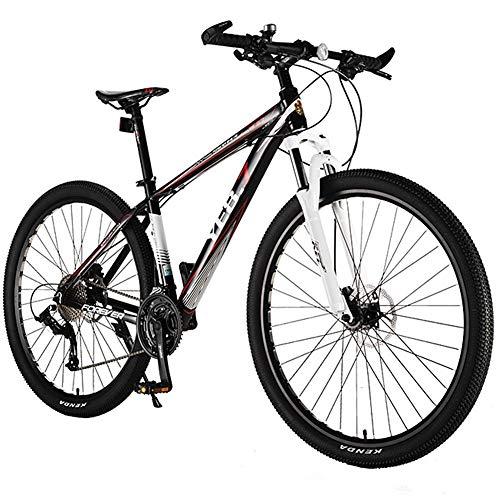 Mountain Bike per Adulti da 29 Pollici Mountain Bike da Fuoristrada a 33 velocità con Forcella Ammortizzata/Freno a Disco Olio Bicicletta da Montagna, Bici Hardtail in Lega di Alluminio,Rosso