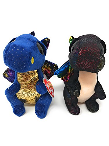 TY Beanie boos Bundle of 2, Saffire The Dragon and Anora The Dragon
