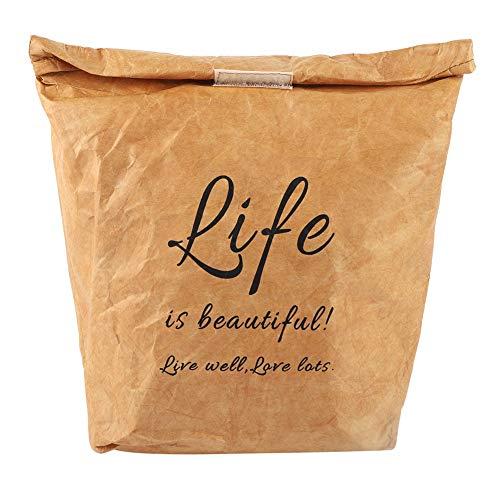 Kraft papieren lunchzak, milieuvriendelijke lunchzak Herbruikbare lunch geïsoleerde tas Kraftpapier Aluminium film lunch geïsoleerde tas
