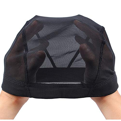 Mesh Wig Cap For Making Wigs, Black Mesh Dome Cap, M Hair Net, Spandex Dome Cap With Great Elastic Band (2pcs M)Mesh Wig Cap For Making Wigs, Black Mesh Dome Cap, M Hair Net, Spandex Dome Cap With Gre