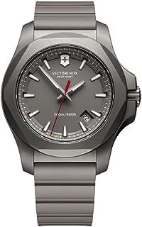 Victorinox - INOX Reloj para Hombre Analógico de Cuarzo con Brazalete de Goma V241757