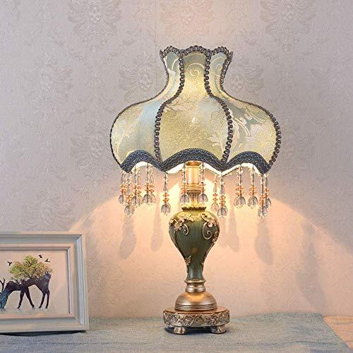 Allamp Norte de Europa Cuerpo de la lámpara lámpara de mesa lámpara colgante cortina de tela azul blanco rojo imprime la borla de la resina azul lámpara de cabecera de iluminación Lámparas Clásico Nob