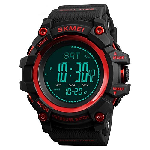 LGPNB Reloj de Moda, montañismo al Aire Libre, Senderismo, Aventura, Reloj electrónico, Deportes, barómetro de altitud, podómetro, pronóstico del Tiempo, brújula, Reloj