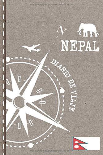 Nepal Diario de Viaje: Libro de Registro de Viajes - Cuaderno de Recuerdos de Actividades en Vacaciones para Escribir, Dibujar - Cuadrícula de Puntos, Bucket List, Dotted Notebook Journal A5