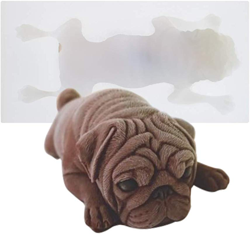 AK ART KITCHENWARE Pug Dog 3D Silicone Cake Mold Mousse Mould Fondant Tools Cake Decorating Tools Dessert Sweet SM 1172