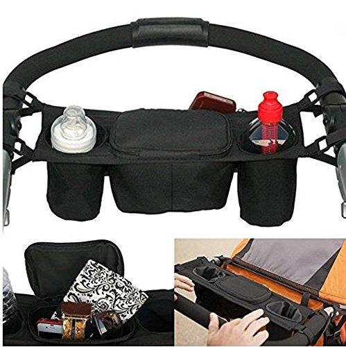 Westeng, Passeggino, Con vano portaoggetti, Supporti per borse, Colore: nero, Può portare giocattoli, piccoli oggetti, tazze, pannolini