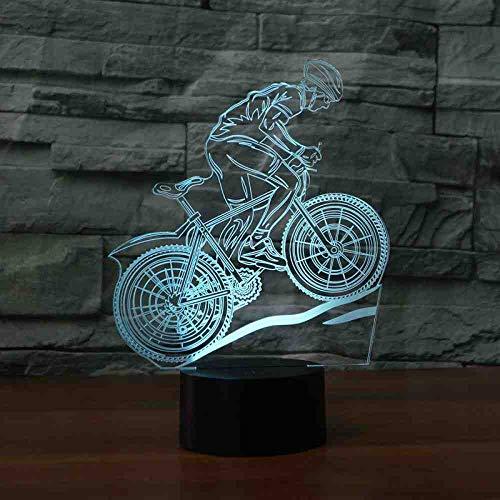 RJGOPL Bicycle Oefening 3D lamp 7 kleuren fietsen LED nachtlampen voor kinderen Touch LED USB tafel baby slapen nachtlampje