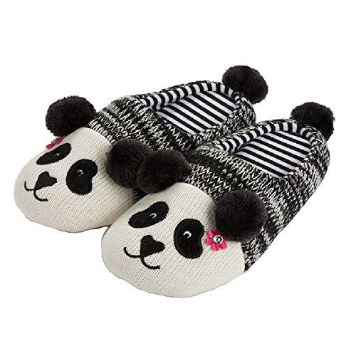 Tofern Set Pantofole Slipper Famiglia Panda Caldo Antiscivolo Inverno Casa, Panda Ragazza EU 39-40