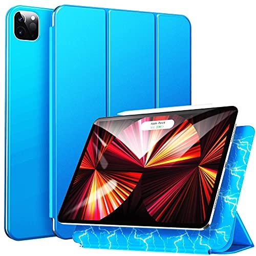 ZtotopCases Custodia per iPad Pro 11 2021 2020, Cover Magnetica, Ultra Sottile e Leggera con Funzione Automatica di Sveglia Sonno, Supporta la Ricarica Della iPencil, Blu