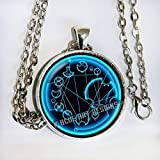 Doctor Who inspired quote,'We're all stories in the end. just make it a good one', in Gallifreyan - necklace - blue Or green - HM