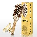 SUPRENT Cepillo redondo 2.9 pulgadas (Barril 1.7 '' / 43 mm) , Ronda de cepillo de pelo para secar con aire, cerdas de jabalí Cepillo de pelo de cepillo, cepillo redondo para diseño Curling pelo