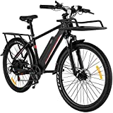 Casulo E Bikes for Adult, 26'' Electric Bike for Men, 350W Electric Trek Bike Bicycle for Adult Hybrid Road e Bike with 36V/10.4Ah Removable Battery