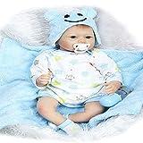 ZXYMUU Twin Baby Simulation Reborn Baby Muñecas Linda Realista Mano Silicona Bebé Bebé Muñeca magnét...