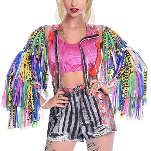 amscan- Birds of Prey Harley Quinn - Chaqueta (mediano-grande) - 1 pieza, Multicolor, UK Size 14-18 (M/L) (9906747)