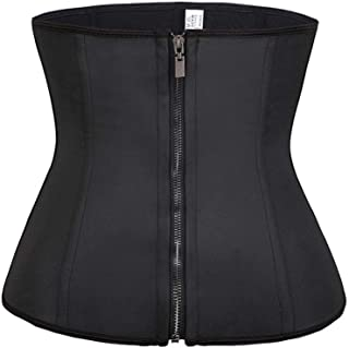 RZDJ Women Waist Trainer Latex Belt Tummy Control Zipper Body Shaper Corset Girdle Slim Belt Size XS-6XL (Size : 5XL)