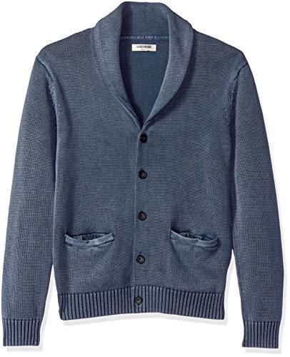 Marca Amazon – Goodthreads – Cárdigan de algodón suave para hombre, Azul (washed navy Wna), US S (EU S)