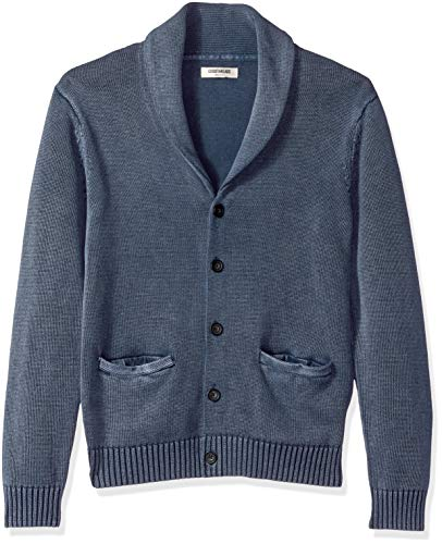 Amazon Brand - Goodthreads Men's Soft Cotton Shawl Cardigan, Washed Navy, Medium