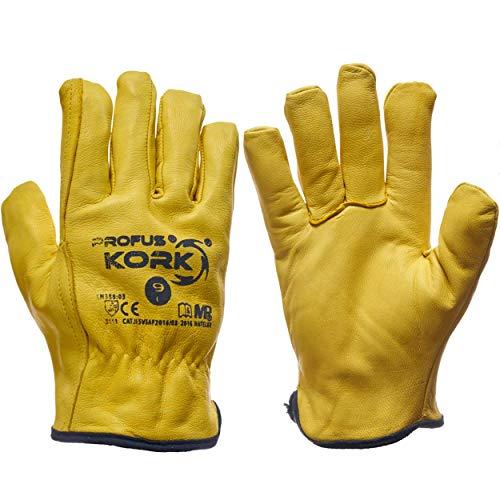 Winterhandschuhe Leder Arbeitshandschuhe Schutzhandschuhe Gefüttert (Kork-1) (11)