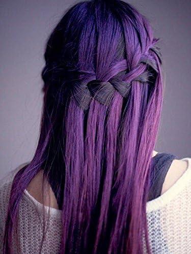 Extensiones de pelo de cinta en color morado natural, 20 ...