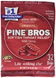 Pine Bros. Softish Throat Drops, Wild Cherry, 32 Count