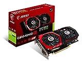 MSI GAMING GeForce GTX 1050 2GB GDRR5 128-bit HDCP Support DirectX 12 TORX 2.0 Fan Graphics Card (GTX 1050 GAMING X 2G)