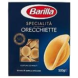 Barilla - Pugliesi Orecchiette, pasta de sémola de trigo duro - 5 piezas de 500 g [2500 g]