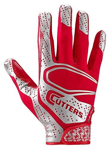 Cutters S251 REV 2.0 Receiver, Sicherheit, Eckenrücken-Fußballhandschuhe mit Ultra Sticky C-Tack Grip, Erwachsene und Jugendliche