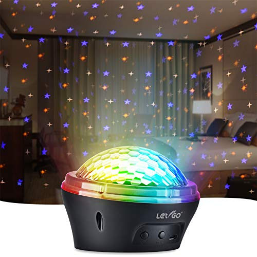Star Projector Night Light LETIGO Starry Night Light Projector with Timer and 4 Modes Led Lights for Bedroom Kids Girls Boys Christmas Gift-Black