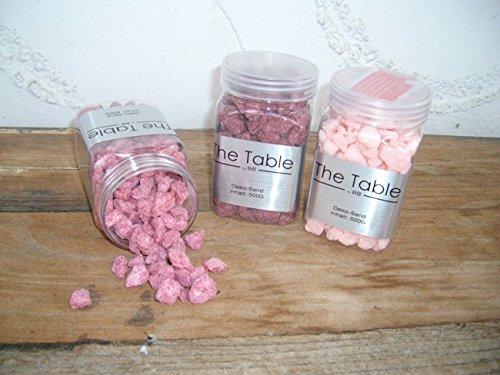 Dekosteine Zierkies Ziersand Tischdeko rosa ca. 0,5 - 2 cm 3 x 500 Gr