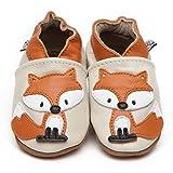 Suaves Zapatos De Cuero Del Bebé Zorro 18-24 meses