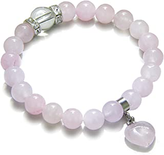 Amulet Love Powers Crystals Rose Quartz Gemstones Healing Heart Charm Bracelet