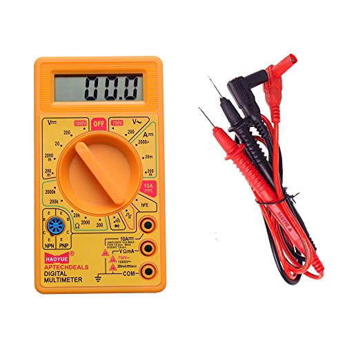 APTECH DEALS Digital Multimeter LCD AC DC Measuring Voltage Current