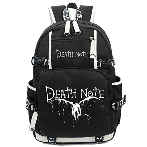 Siawasey Death Note Anime Cosplay Luminous Bookbag Daypack Laptop Rucksack Schultertasche Schultasche
