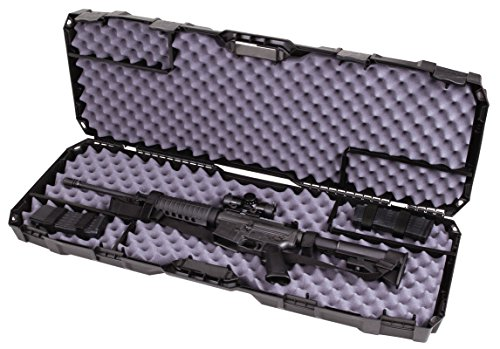 Flambeau Outdoors 6500AR AR Tactical Gun Case with ZERUST - 40 x 12 x 4 in. Hard Gun Case with Zerust Magazine Pockets and Straps for Ammunition, Firearm Storage Accessory