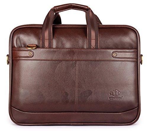 Maletín expandible de cuero vegano de 15,6 pulgadas, bolso de mensajero de negocios, bolsa de ordenador portátil de oficina